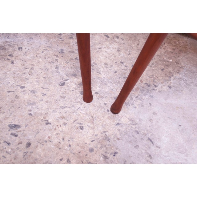 Vintage Solid Walnut Studio Craft Bar Stools by David Scott - a Pair For Sale - Image 11 of 13