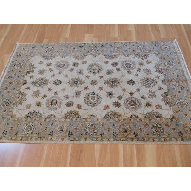 Transitional Traditional Indo Oushak Rug - 4' x 6' For Sale - Image 3 of 5