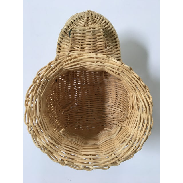 Tan 20th Century Cottage Marble Eyed Wicker Frog Planter/Catchall For Sale - Image 8 of 10