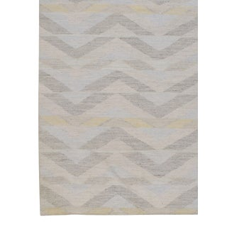 Swedish Style Kilim Deco Flatweave Rug 8' X 10' For Sale