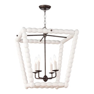 Perennial Lantern in White For Sale