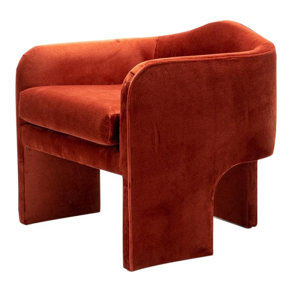 Hand Crafted Art Deco Chair Style Accent Chair For Sale