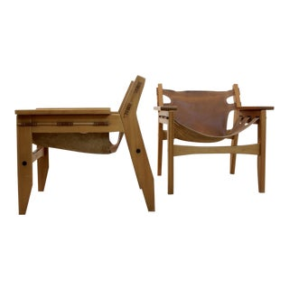 Amazing Sergio Rodrigues 'Kilin' Lounge Chairs for Oca Industries, Brazil For Sale