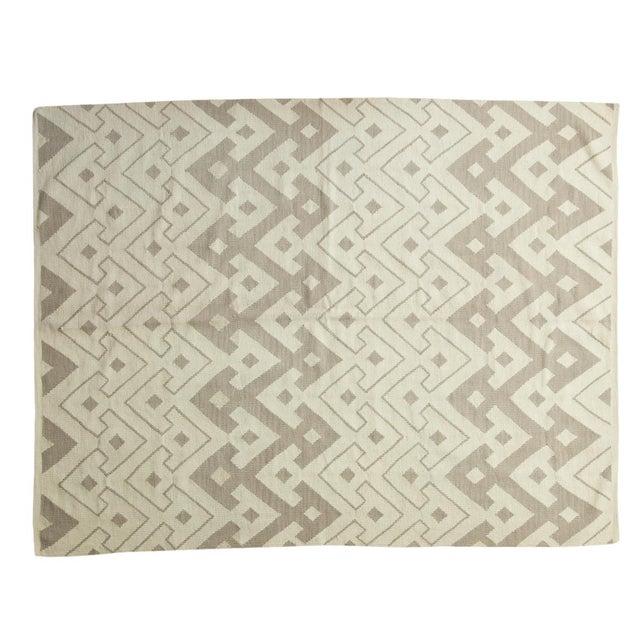 "Abstract Kilim Carpet - 6' X 7'10"" - Image 1 of 8"
