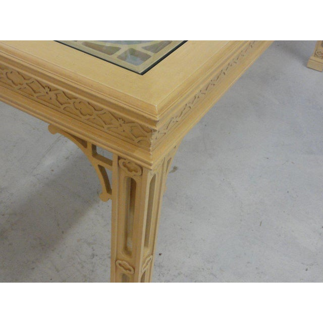 Hollywood Regency Fretwork Dining Table - Image 8 of 11