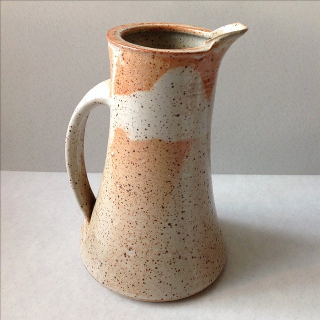 Rustic Modern Studio Pottery Raku Pitcher - Image 8 of 10