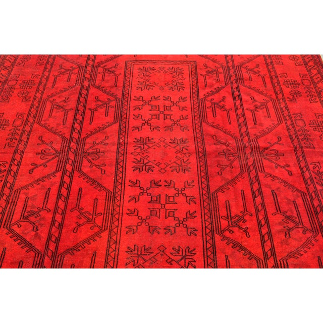 Turkish Hand-Knotted Red Overdyed Rug - 8′5″ X 11′8″ For Sale In New York - Image 6 of 9