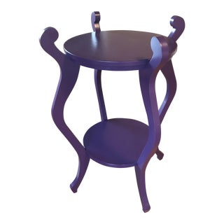Transitional Purple Side Table