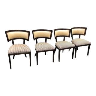 Set of 4 Kerry Joyce for Dessin Fournir Klismos Chairs For Sale