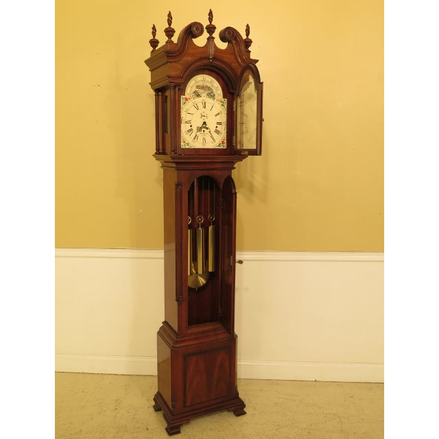 Chippendale Sligh John Goddard Cherry Grandfather Clock For Sale - Image 3 of 13