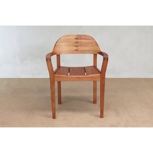 Mid Century Modern Dining or Desk Chairs Sustainably Sourced Royal Mahogany. Xiloa Chairs - 4 - Image 6 of 9