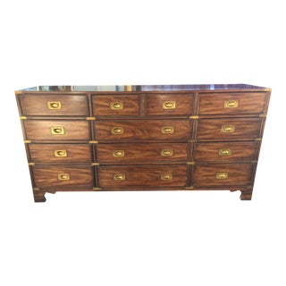 Drexel Heritage Campaign Chest Dresser For Sale