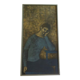 "Matisse Style ""Blue Boy"" Oil on Canvas For Sale"