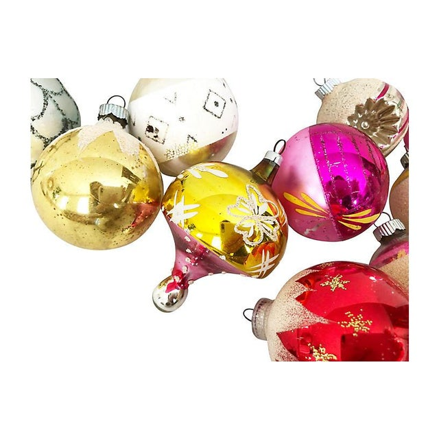 Traditional 1960s Vintage Glass Ornaments - Set of 17 For Sale - Image 3 of 4