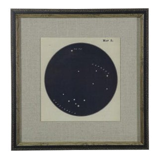 Contemporary Navy Constellation Print in Shadowbox