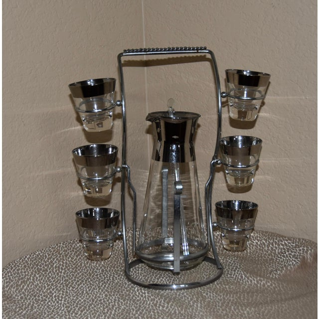 Mid-Century Modern 1950s Dorothy Thorpe Mad Men Style Cocktail Set - 9pc Se For Sale - Image 3 of 8