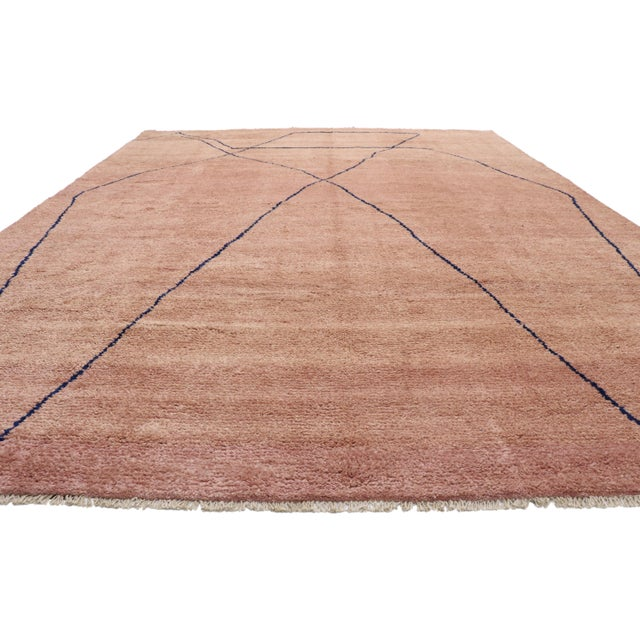 Boho Chic Moroccan Contemporary Rug - 10'00 X 13'06 For Sale - Image 3 of 10