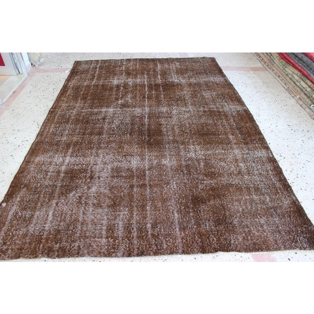 Hand-woven overdyed vintage rug in color. Turkey (Anatolia) is one of main areas of carpets and kilim production on the...