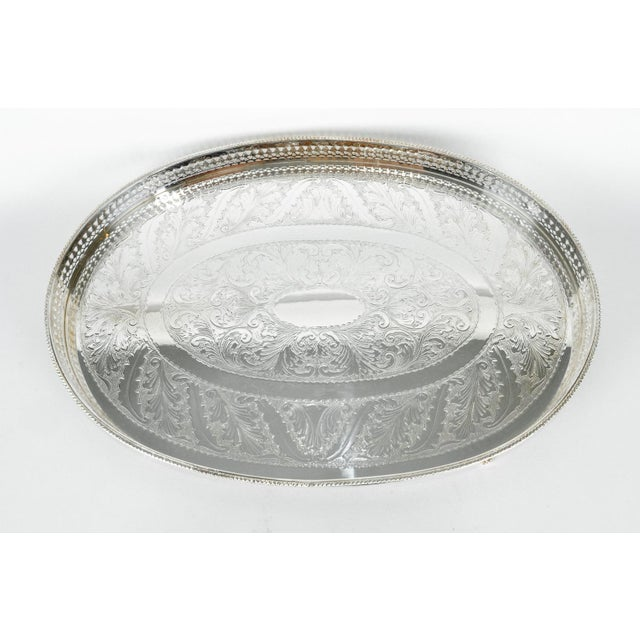 Metal English Sheffield Gallery Tray For Sale - Image 7 of 7