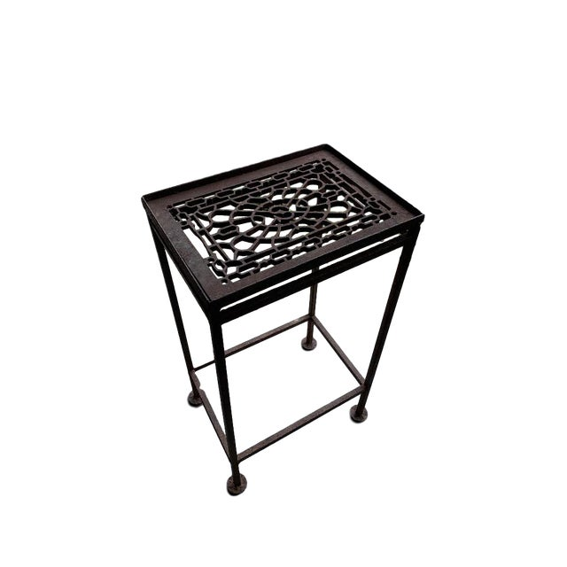 Mid 20th Century 20th Century Boho Chic Hand Made Iron Cocktail/Side Table For Sale - Image 5 of 5
