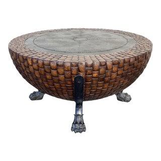 Kreiss Nairobi Drum Coffee Table For Sale