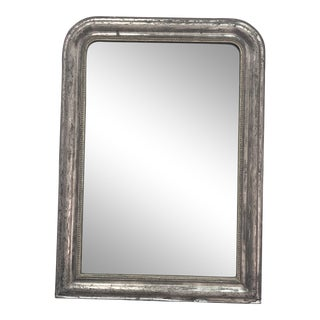 Antique Silver Louis Philippe Mirror