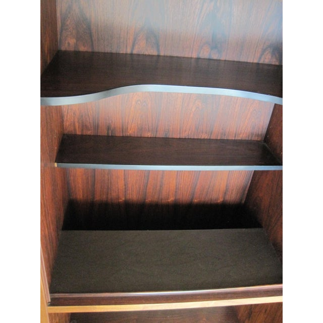 Danish Modern Rosewood Shelving Unit With Bar - Image 6 of 9