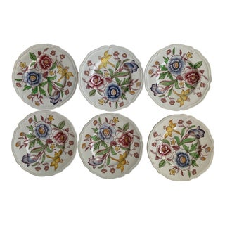 Johnson Brothers Staffordshire Bouquet Bread Plates - Set of 6 For Sale