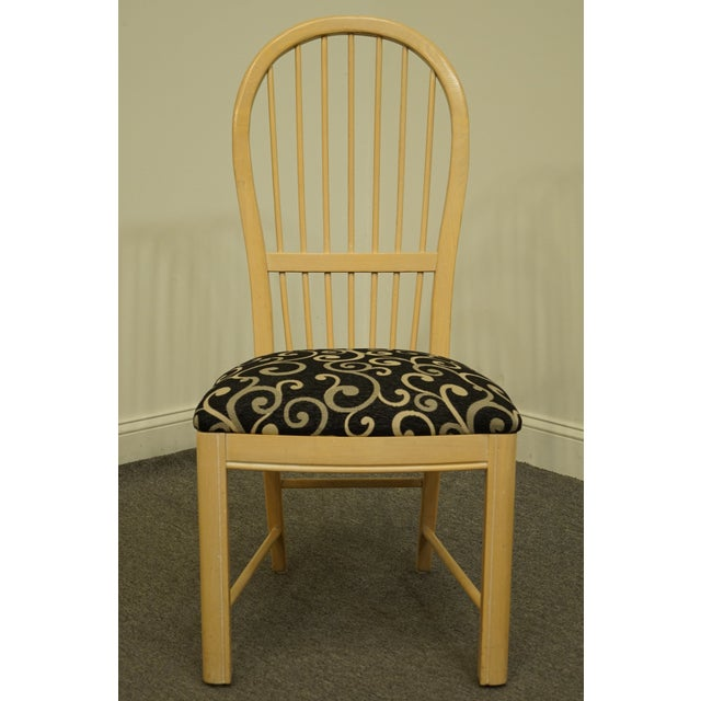 Late 20th Century Thomasville Furniture Windrift Collection Dining Side Chair For Sale - Image 5 of 10