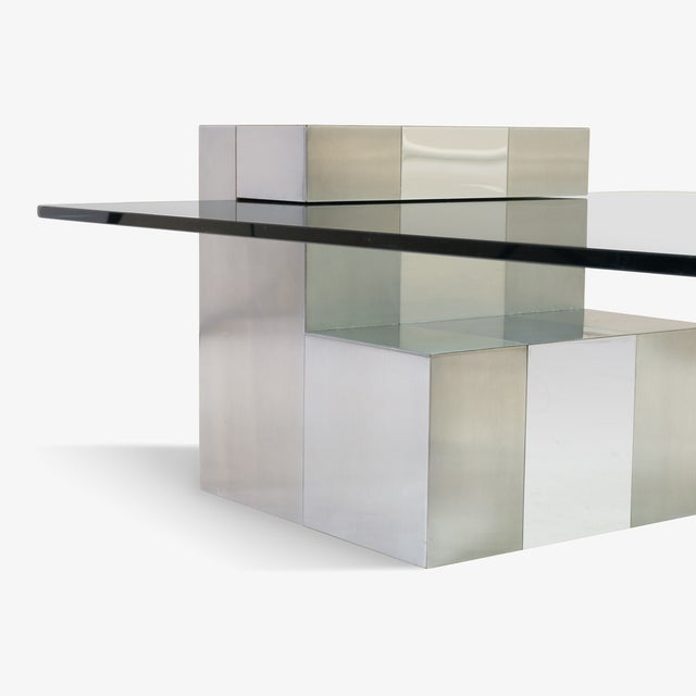 Cityscape Floating Cocktail Table by Paul Evans For Sale - Image 5 of 7