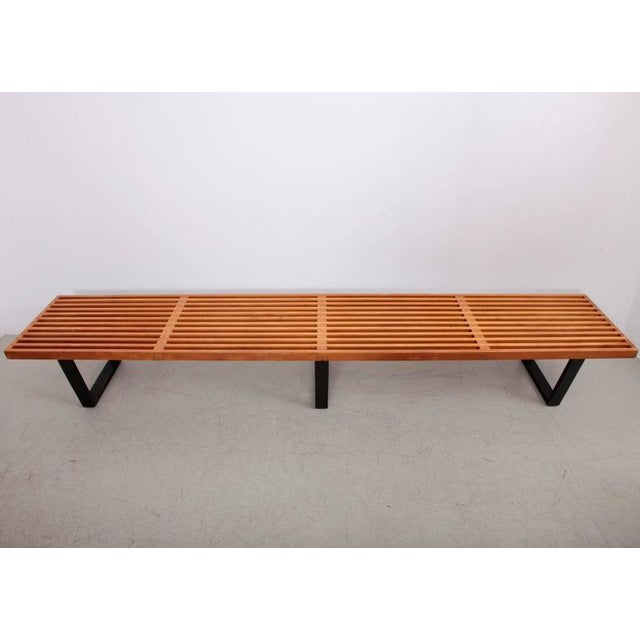 Mid-Century Modern Largest George Nelson Slat Bench for Herman Miller For Sale - Image 3 of 7