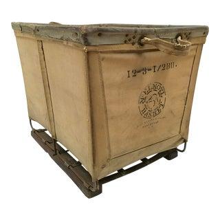 Vintage McElmoyl Industrial Canvas Laundry Basket