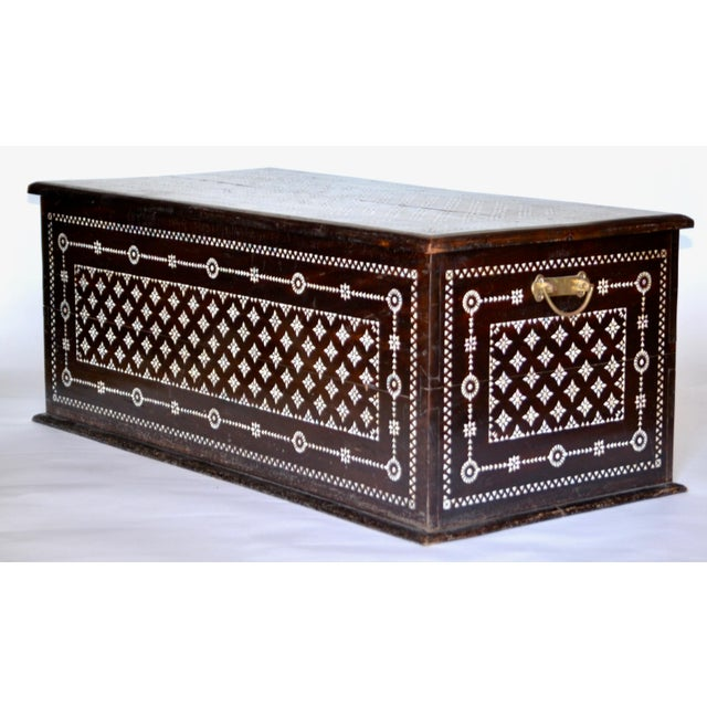 Turkish Mother of Pearl Inlaid Chest - Image 4 of 9