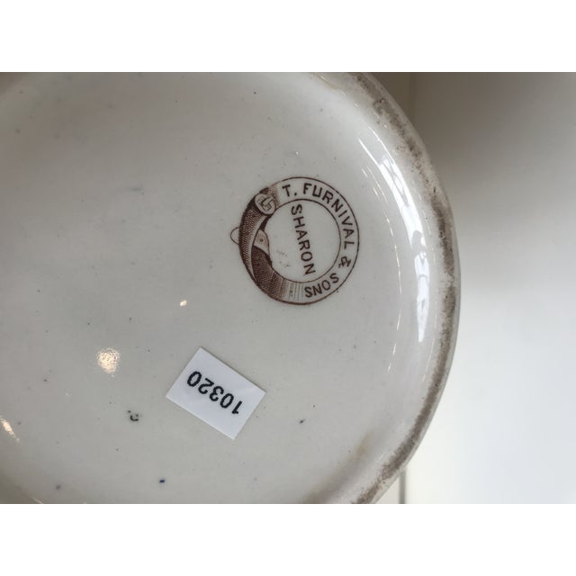 Ceramic 19th Century Large Scale Floral Ribbon English Ironstone Pitcher For Sale - Image 7 of 8