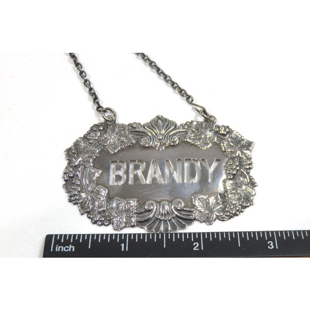 1890s Antique Sterling Silver Liquor Decantor Label For Sale - Image 11 of 13