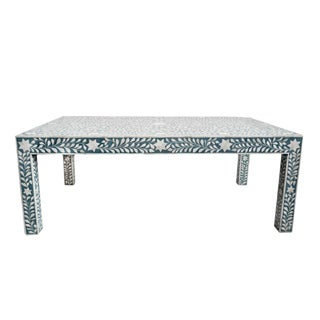 Inlay Blue Coffee Table For Sale