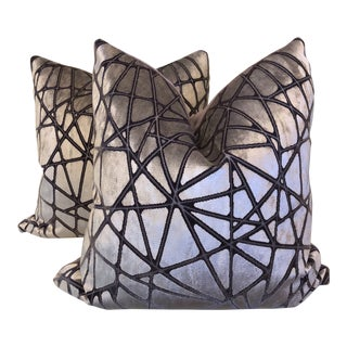 "Holly Hunt ""Tangled"" Silk Velvet 22"" Pillows-A Pair"
