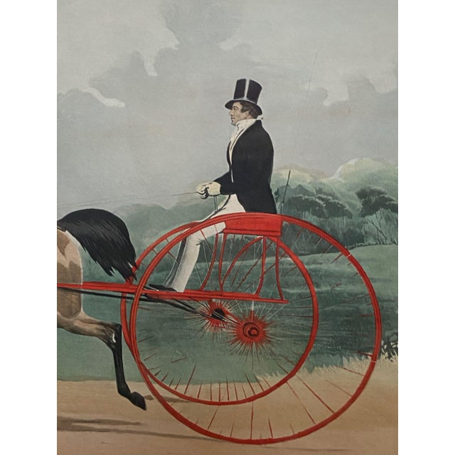 "Mid 19th Century ""Lord William"" Trotting Horse 1845 Aquatint For Sale - Image 5 of 13"