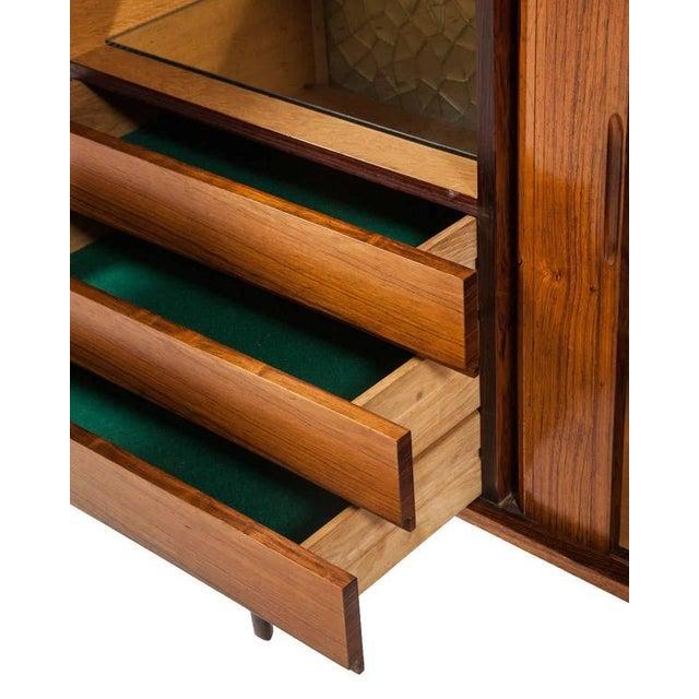 HW Klein H.W. Klein Rosewood Tamboured Door Console For Sale - Image 4 of 8
