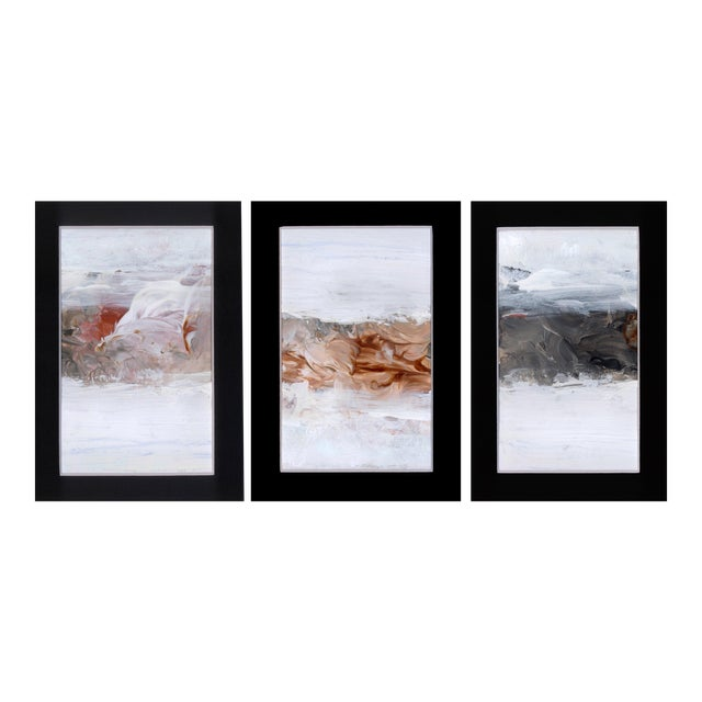 Triptych Modern Abstract Art Paintings - Set of 3 - Image 1 of 6