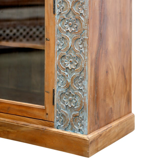 Hand-Carved Panel Sideboard - Image 4 of 5