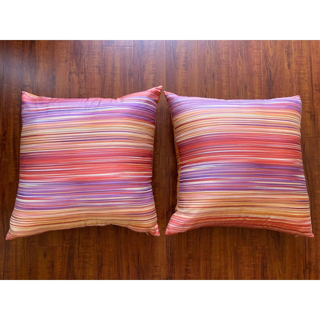 Missoni Home Large Decorative Pillows - Pair For Sale - Image 10 of 10