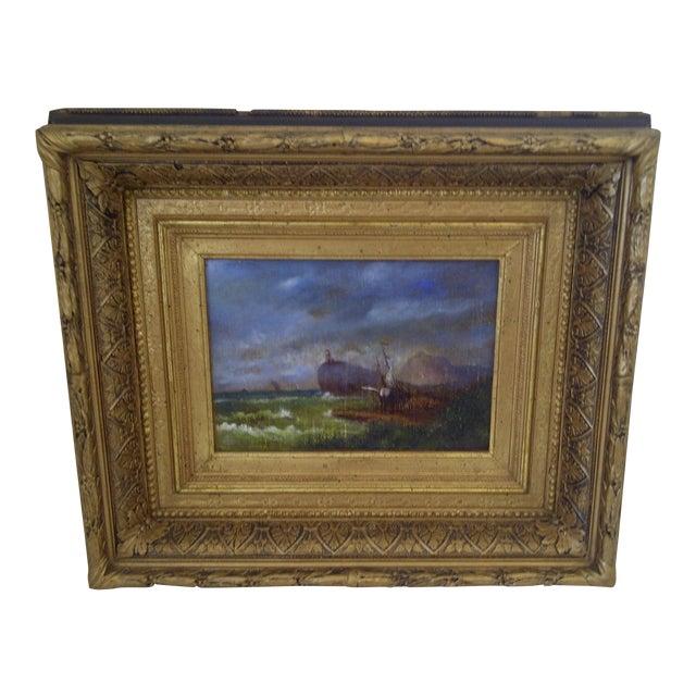 "Original Painting ""The Shipwreck"", Circa 1840 For Sale"