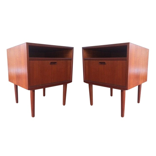 Mid-Century Teak Nightstands by Falster - Image 1 of 10
