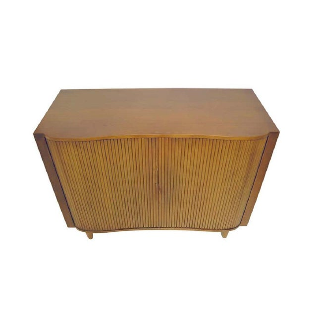 Mid-Century Modern 1950s Dunbar Mister Chest With Tambour Doors by Edward Wormley For Sale - Image 3 of 10