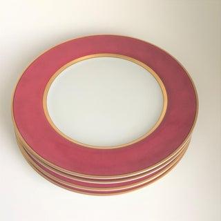 "Fitz & Floyd ""Renaissance"" Magenta Dinner Plates - Set of 4 Preview"