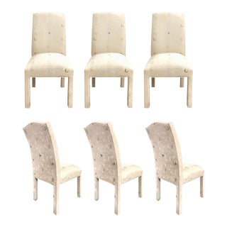 Vintage Milo Baughman Butterfly Motif Parsons Chairs - Set of 6 For Sale