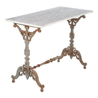 1800s Spanish Rococo Iron Base Bistro Table For Sale