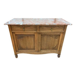 Early-20th Century Mahogany + Marble Wash Stand For Sale