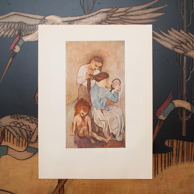 """1950s 1950s Picasso """"La Coiffure"""" Original Period Lithograph For Sale - Image 5 of 10"""